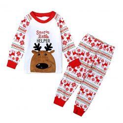 20a26cea5 Little Hand- pijama de Navidad dos piezas niños niñas pijama patrón de  renos (1-7 años)