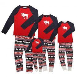 7033a7269 Pijamas de Navidad Familia Conjunto Pantalon y Top Fiesta Manga Larga  Trajes Navideños Reno Pijama Dos Piezas Mujer Hombre Niños Niña Ropa de  Dormir para ...