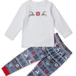 9979379ca Chicolife familia juego pijamas copo de nieve ciervos de la Navidad  impresión fija ropa de dormir pijamas para familia hombres mujeres niños